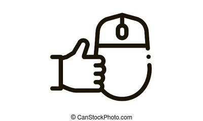 computer mouse and hand gesture good Icon Animation