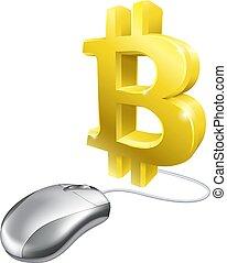 Computer Mouse Bitcoin Concept