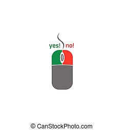 Computer mouse button icon, simple style