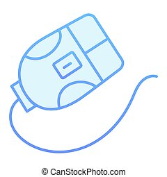 Computer mouse flat icon. Click blue icons in trendy flat style. Device gradient style design, designed for web and app. Eps 10.