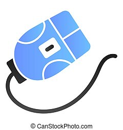 Computer mouse flat icon. Click color icons in trendy flat style. Device gradient style design, designed for web and app. Eps 10.