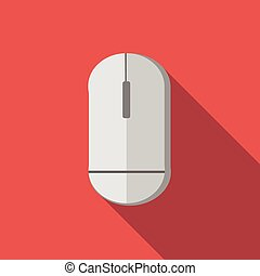 Computer mouse flat icon