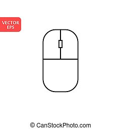 Computer mouse Icon in trendy flat style isolated on grey background, for your web site design, app, logo, UI. Vector illustration, EPS10.