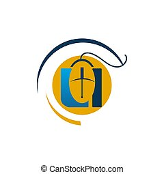 Computer mouse Icon in trendy flat style isolated on white background, for your web site design, app, logo, UI. Vector illustration, EPS 10.