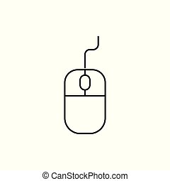 Computer Mouse Icon On white Background