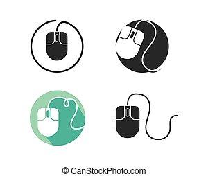 computer mouse icon vector illustration design
