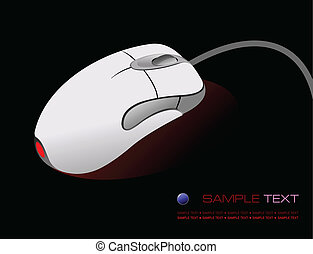 Computer mouse on black background