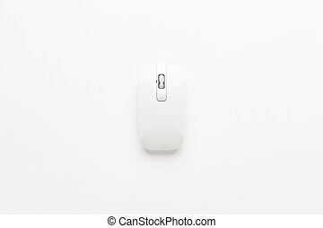 computer mouse on white - wireless computer mouse on white...