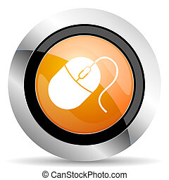 computer mouse orange icon