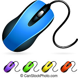 Computer Mouse Set Original Vector Illustration Simple Image...