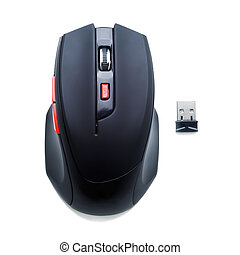 computer mouse - wireless computer mouse isolated on white...