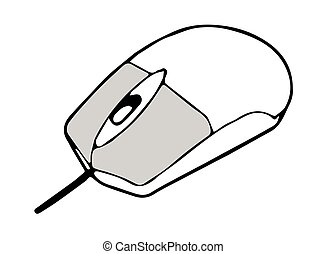 computer mouse vector on white background