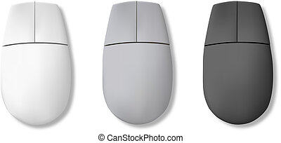 computer, mouse., vettore