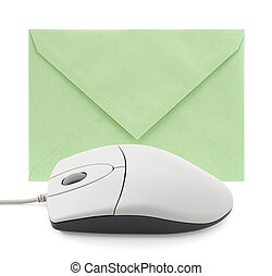 Computer mouse with envelope