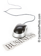 Electronic Commerce - Computer Mouse with headline business,...