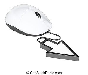 Computer mouse with pointer cursor