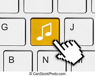 computer, muziek, klee, toetsenbord