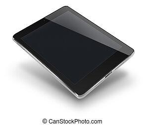 computer, nero, schermo, tavoletta