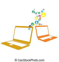 computer net, sociaal