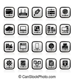 Network and internet icons
