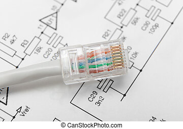 Computer network cable (RJ45)