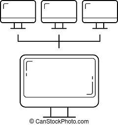 Computer network line icon.