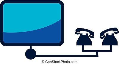Wireless network signal logo. vector graphic design.Computer Network Logo