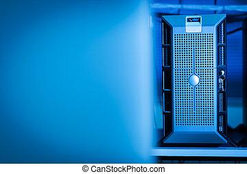 Computer Network servers in data room