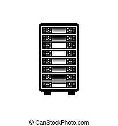 computer, opslag, databank