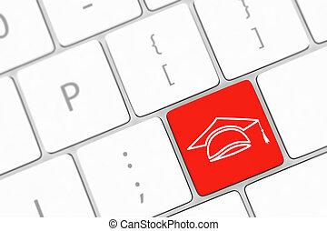 computer, parola, educazione, tastiera