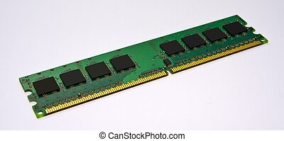 Computer part - Memory module (RAM) in close-up isolated on...