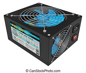 Computer PC AC power supply unit - Black metal computer PC...