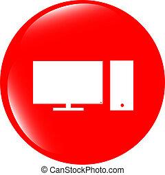 computer pc icon button