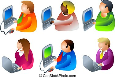 computer, persone