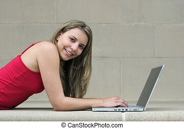 computer, pige