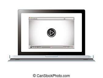 computer portatile, browser