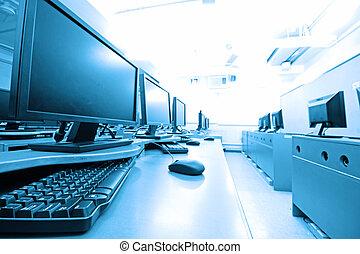 computer, posto lavoro, stanza