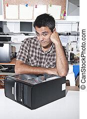 Computer problem: PC technician at workshop
