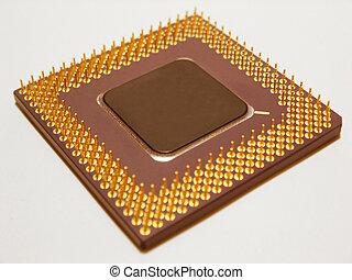Close up of a computer processor.