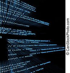 Computer program code - Illustration of computer program...