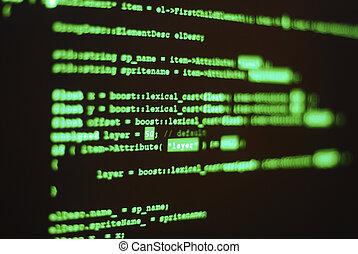 computer, programma, codice