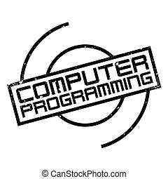 Computer Programming rubber stamp