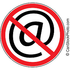 computer prohibition sign