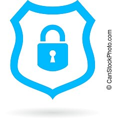 Computer protection vector symbol