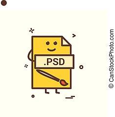 computer, psd, bestand, formaat, type, pictogram, vector,...