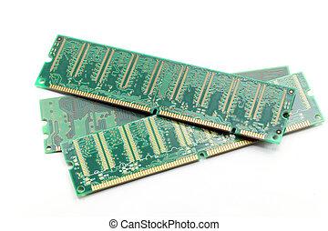 Computer ram Memory - Computer ram memory on white...