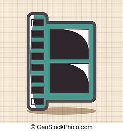 Computer-related desktop icon theme elements