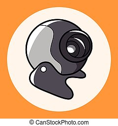 Computer-related equipment webcam theme elements