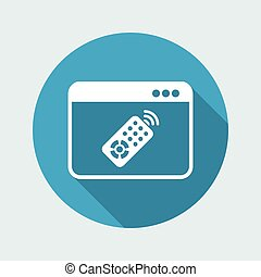 Computer remote control - Vector flat icon