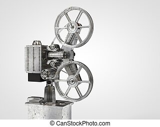 old Film projector isolated